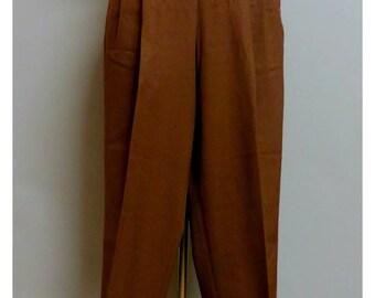 Vintage 1940's western brown gabardine pant  Medium