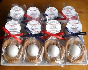Baseball Baby Shower Favors - Baseball Baby Favors, Gender Reveal Party Baseball Party Favors, Boy Baby Shower - Set of 10