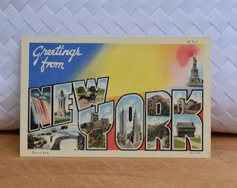 Vintage New York Linen Postcard