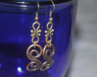 Copper Swirl Earring