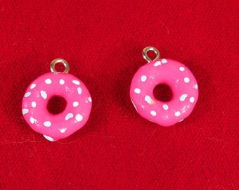 "BULK! 30pc ""donut"" charm in brown acrylic (BC1379B)"