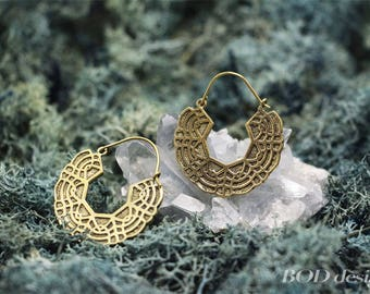 Original brass earrings