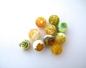 Mineral beads, agate, 14 mm, sold by piece