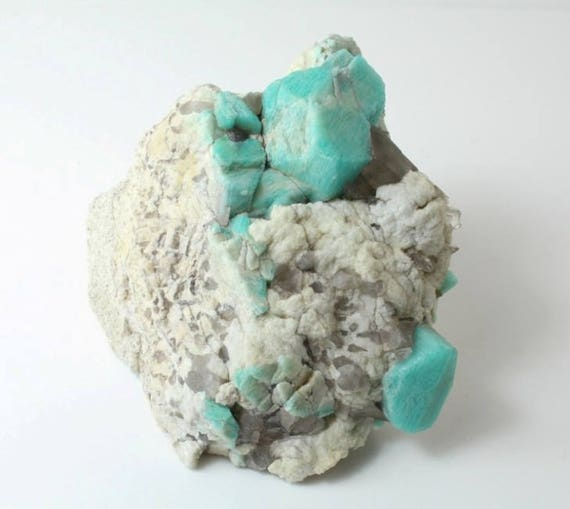 Amazonite, Microcline and Smoky Quartz Cluster, M-1917