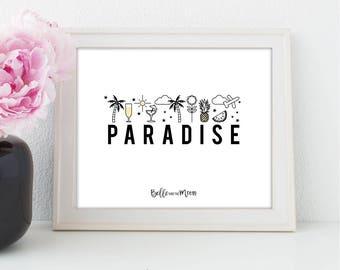 A4 Wall Art Print | Paradise