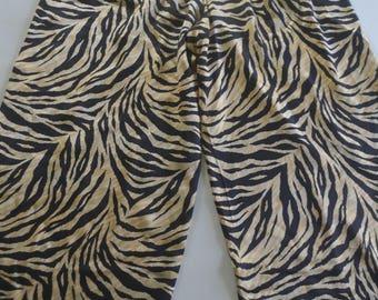 Vintage Silk Animal Print Palazzo Pants - Size large