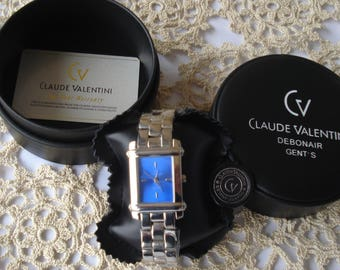 Claude Valentini Debonair Men's Gents Watch/Vintage Men's Quarts Watch/1990s