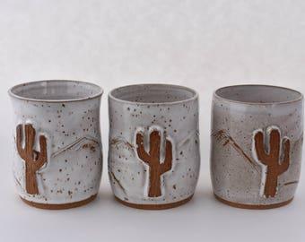 White Speckled Wine Glasses, Mountain Scape, Cactus Wine Tumbler, Mountain Wine Glasses