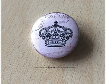 "badge 25 mm ""Crown 04"""