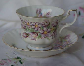Royal Albert Prairie Crocus Cup and Dish English
