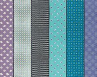 Lollies by Jen Kingwell - Sweetie Multi Dark 1813015 - 1/2yd