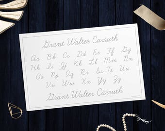 "Custom Cursive Alphabet Tracing Pad - 11"" x 17"", 52 sheets"