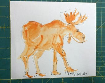 The moose is a bit loose will need custom framing