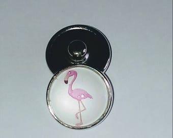 Snap Flamingo Pink glass