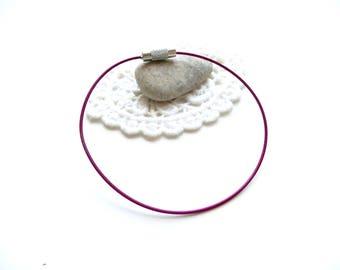 X 1 cable screw clasp purple Bracelet