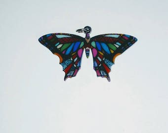 X 1 acrylic colorful Butterfly