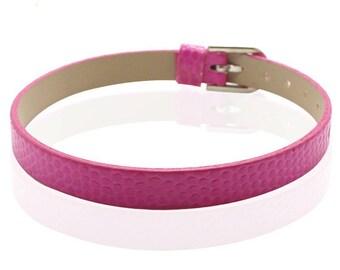 FUCHSIA type 22cm crocodile leather bracelet