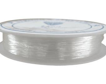 X 1 coil 10 meters elastic thread transparent 0.8 mm