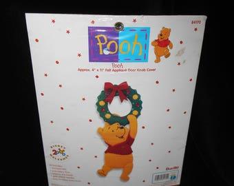 Door Knob cover Pooh Felt Applique Door Knob Cover Bucilla 84170 Disney