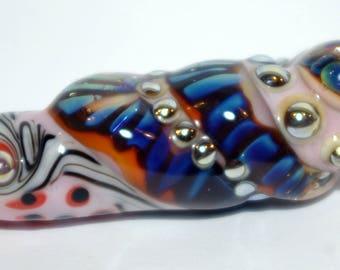 Handmade Lampwork glass Focal bead,  Lampwork Glass for Pendant  Necklace  Ornament SRA