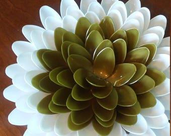 8 White Plumeria Spoon Daisy Flower Wall Decor Flower Centerpiece Flower