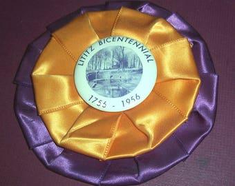 Large 1956 Lititz, PA bicentennial badge