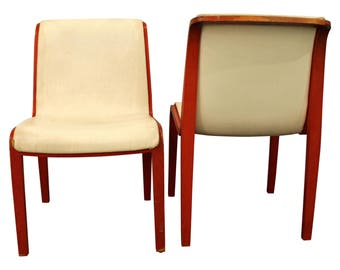 Pair of Mid-Century Danish Modern Knoll Bill Stephens Bentwood Side/Dining Chairs
