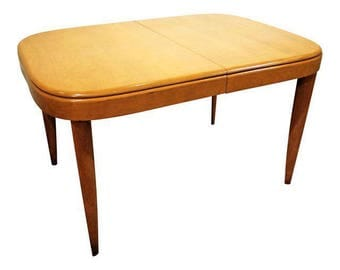 Mid-Century Modern Dining Table Danish Modern Heywood Wakefield Champagne Extension Dining Table
