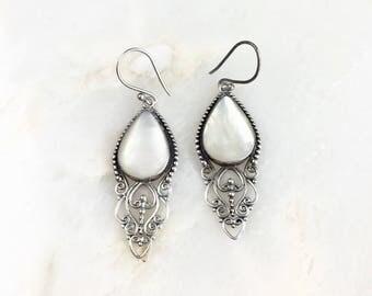 Vintage Sterling Mother of Pearl Earrings