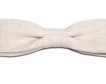 Bow slim, 100% linen with straight edges