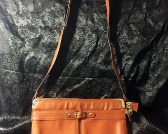 Vintage Brown Leather Sholder Bag