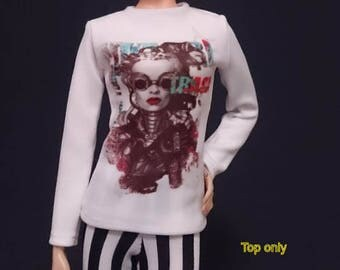 Top for Barbie,Muse barbie,Tall barbie, FR, Silkstone -No.3