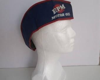 Vintage Automobilia RPM Motor Oil Gas Station Attendant Cap