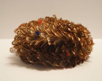 Vintage Janyth Roy New York-Women's Hat-Pheasant Feathers-Mr. Herbert Hat Box Included