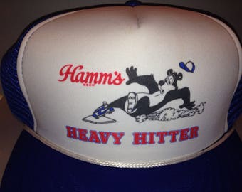 NOS, Vintage Hamms Heavy Hitter Trucker hat