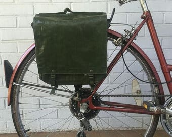 Discounted Regular Price Czech Military Surplus Rubberized Shoulder Bag Vintage Bicycle Pannier
