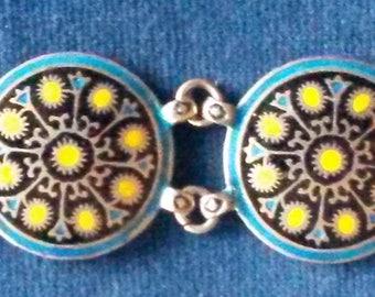 Jaisaram Cordan Mooltan/Multan Silver Cloisonne Enamel Bracelet