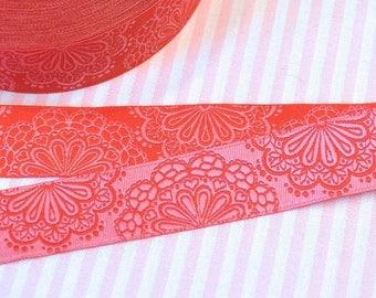 "Summer Sale Ribbon color mix ""SpitzenWerk"" red-pink"