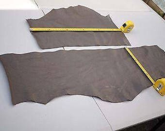 x2 Two tone Beige stingray embossed print cowhide leather pieces/off-cuts bundle
