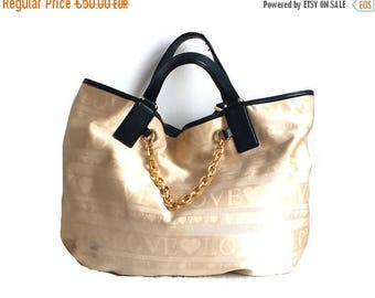 ON SALE MOSCHINO / Vintage shopper / Bucket bag