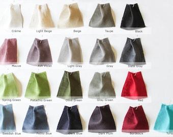 Set of 21 linen color swatches, Linen color samples Bloem Linen