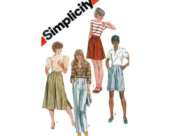 Pants and Culottes, Women's Sewing Pattern Misses Size 10, 12, 14 Uncut Simplicity 5992