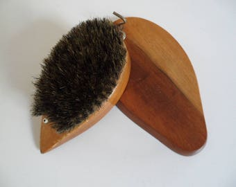 Vintage clothes brush,clothes brush,hedgehog clothes brush for the wall