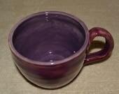 Mug, Coffee Mug, Tea Mug, Cocoa Mug, Soup Mug, Stoneware, Dark Purple, Purple, 24 ounces