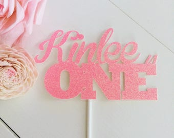 Name Cake topper, one cake topper, custom cake topper, smashcake topper, birthday cake topper.