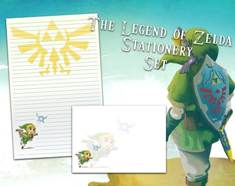 Zelda Stationery Set with Envelopes