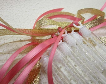 200 Wedding Bubble Wands Double ribbon