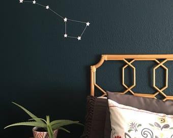 big dipper constellation garland / star nursery wall art / star garland