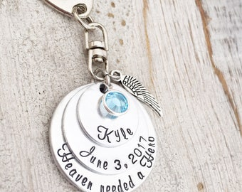 Loss of a Child - Memorial Jewelry - Loss of Son - Sympathy Gift for Men - Remembrance Jewelry Son - Heaven Needed a Hero - Memorial Gifts