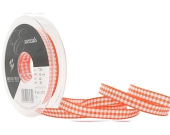 3 M tape 10 mm orange gingham fabric 42